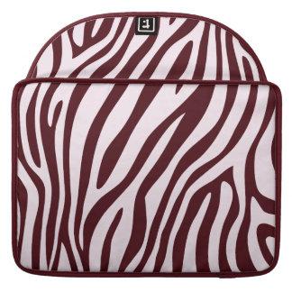 Luva do impressão da zebra, vermelha bolsas para MacBook