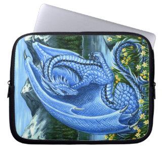 Luva dos eletrônicos do dragão de água-marinha capas para laptop