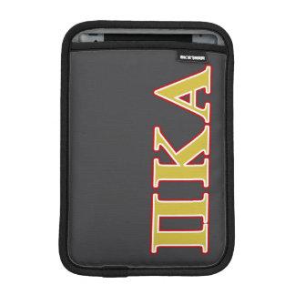 Luva iPad Mini Letras alfa do vermelho e do ouro do Kappa do Pi