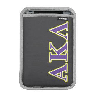 Luva iPad Mini Letras pretas do Lambda do Kappa alfa