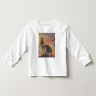 Luva longa da criança camisetas