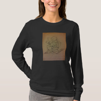 Luva longa T do esboço do lápis da arte abstracta Tshirt