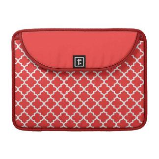 Luva na moda do teste padrão marroquino do azulejo bolsa para MacBook