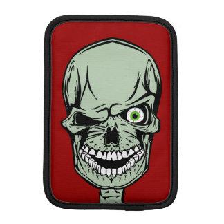 Luva Para iPad Mini Cara legal do crânio do zombi com um olho