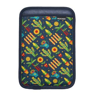Luva Para iPad Mini Girassol do cacto no teste padrão azul de Festa