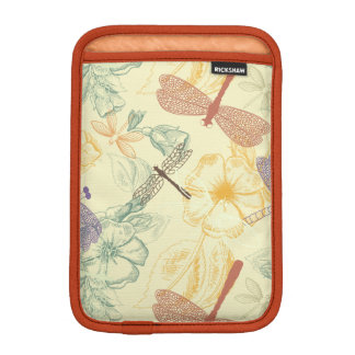 Luva Para iPad Mini Teste padrão floral na folha da libélula do estilo