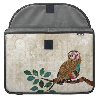 Luva sábia de Macbook da serenidade da coruja Bolsa Para MacBook
