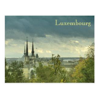Luxembourg nebuloso cartão postal
