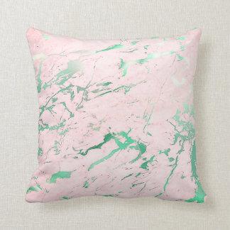 Luxo aquático do mármore do rosa do rosa da almofada