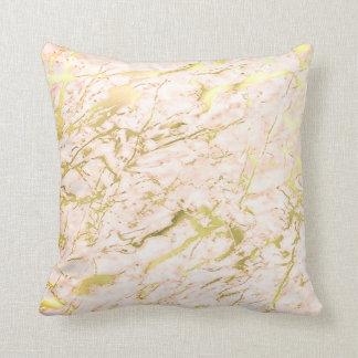 Luxo de mármore Pastel do ouro coral abstrato dos Almofada