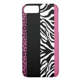 Luz - animal cor-de-rosa do costume do leopardo e capa iPhone 7