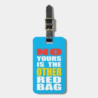 Luz - azul o outro Tag vermelho da bagagem do saco Tag Para Bagagem