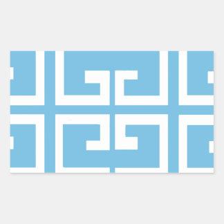 Luz - azulejo do azul e do branco adesivo retangular