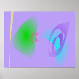 Luz bem defenida dos esboços - arte abstracta roxa