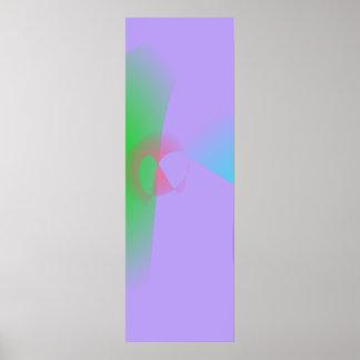 Luz bem defenida dos esboços - arte abstracta roxa pôsteres