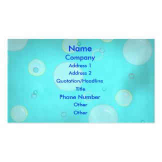 Luz - bolhas e cartões de visitas azuis dos círcul