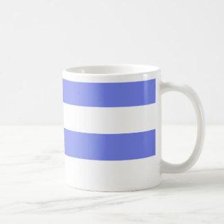 Luz branca do marinho - azul caneca de café