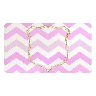 Luz - Chevron cor-de-rosa com o cartão de visita
