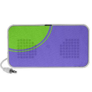 luz - círculo roxo do verde azul caixinhas de som para iPhone