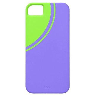 luz - círculo roxo do verde azul capa para iPhone 5