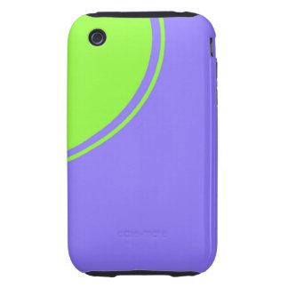 luz - círculo roxo do verde azul capas para iPhone 3 tough