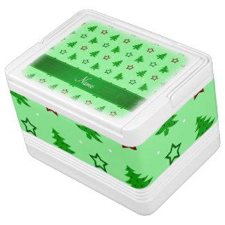 Luz conhecida personalizada - estrelas verdes do geladeirinha portátil