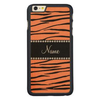 Luz conhecida personalizada - listras alaranjadas capa para iPhone 6 plus de carvalho, carved®