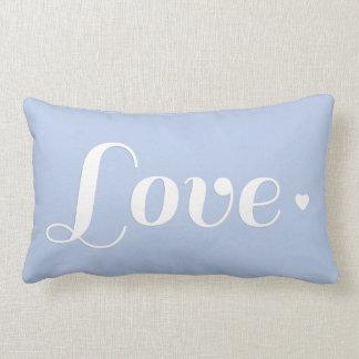 Luz - coração retro azul do amor travesseiros