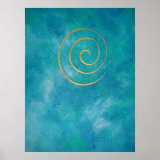 Luz da arte decorativa - arqueiro azul de Philip d Poster