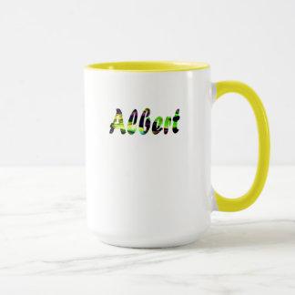 Luz de Albert - caneca amarela para o café