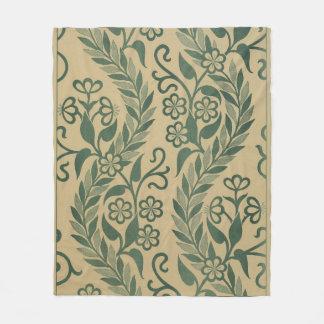 Luz - design frondoso verde das videiras cobertor de lã