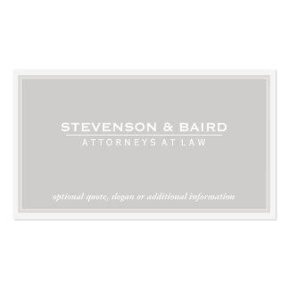 Luz do advogado - Groupon cinzento Cartão De Visita