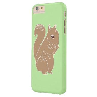 Luz do esquilo de Brown - iPhone verde 6/6s mais o Capa Barely There Para iPhone 6 Plus