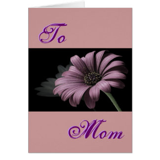 Luz feliz do dia das mães - margarida roxa III Cartao