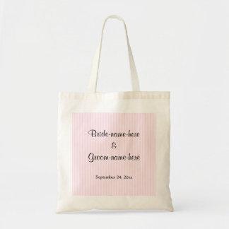 Luz - listras cor-de-rosa que Wedding Bolsa Tote