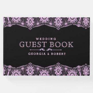 Luz - livro de hóspedes cor-de-rosa do casamento