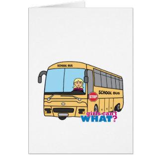 Luz/louro do motorista de auto escolar cartão