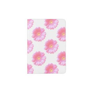 Luz - margarida cor-de-rosa do gerbera capa para passaporte