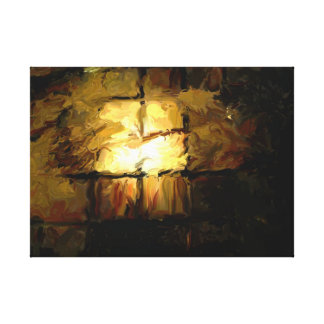 Luz no preto impressão em tela canvas