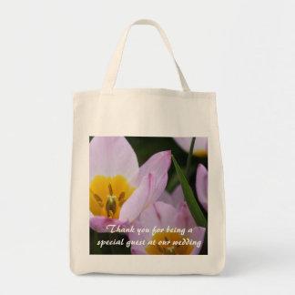 Luz - obrigado roxo das flores da tulipa você bolsa