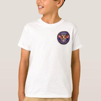Luz patriótica da parte traseira da parte t-shirts