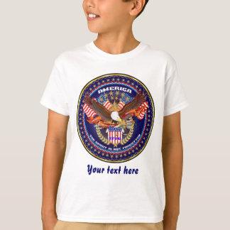 Luz patriótica da parte traseira da parte tshirts