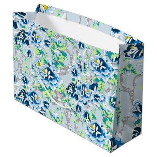 Luz - saco azul do presente de chintz sacola para presentes grande