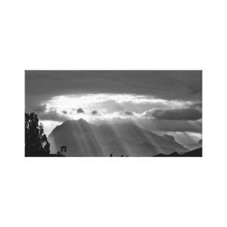 luz solar no impressão preto e branco