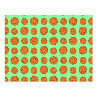 luz - teste padrão verde do basquetebol cartoes postais