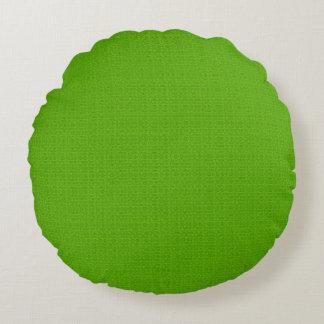Luz - travesseiros redondos Textured verde do Almofada Redonda