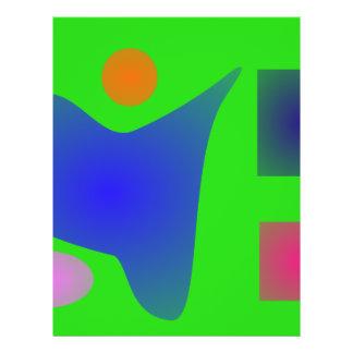 Luz - verde e azul panfletos personalizado