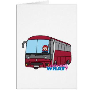 Luz vermelho do condutor de autocarro cartoes