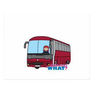 Luz vermelho do condutor de autocarro cartoes postais