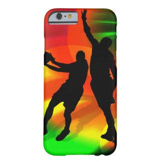 Luzes brilhantes da corte do duo do basquetebol capa iPhone 6 barely there